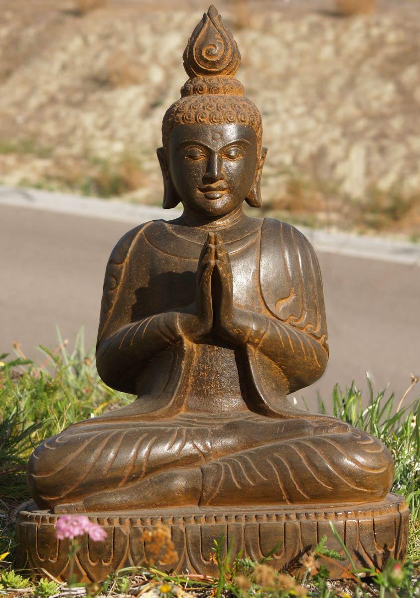 Sold Praying Buddha Garden Statue 28 Quot 77ls49 Hindu