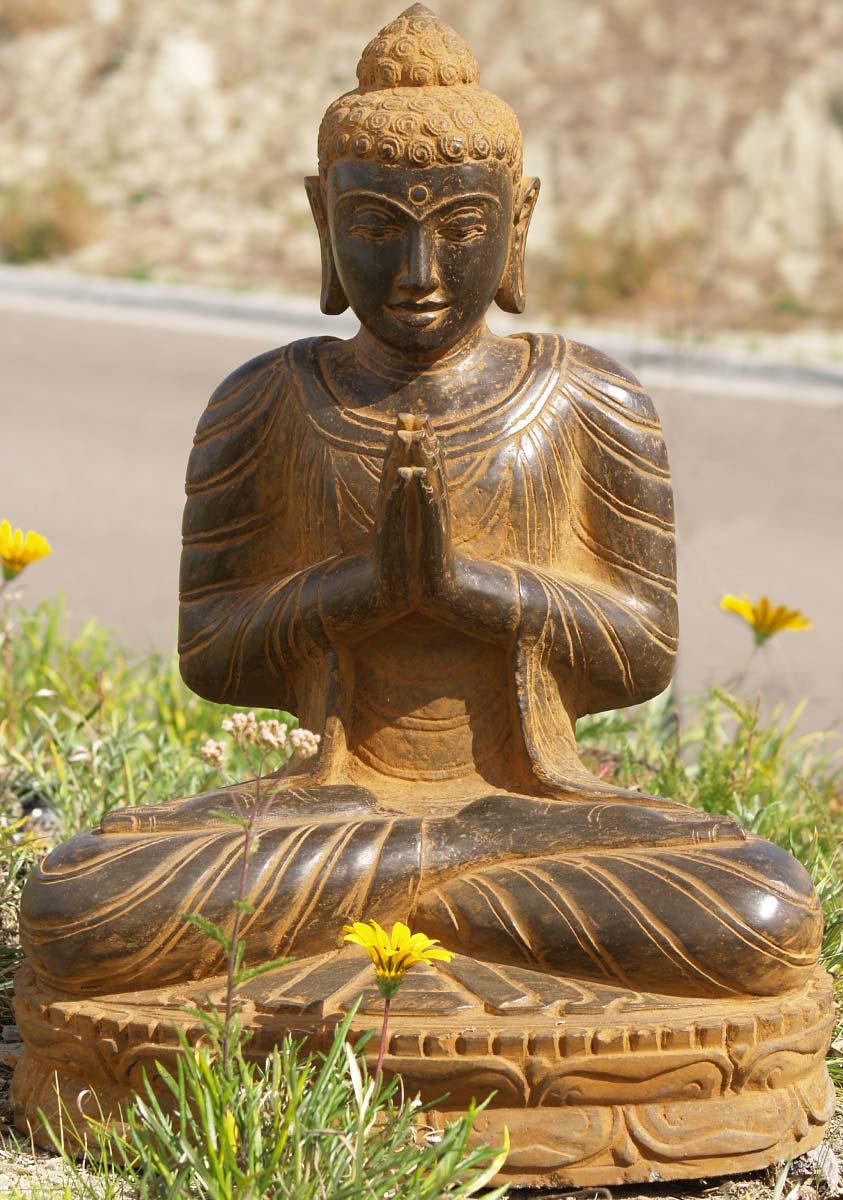 "SOLD Praying Buddha Garden Statue 25"" (#77ls76): Hindu ..."