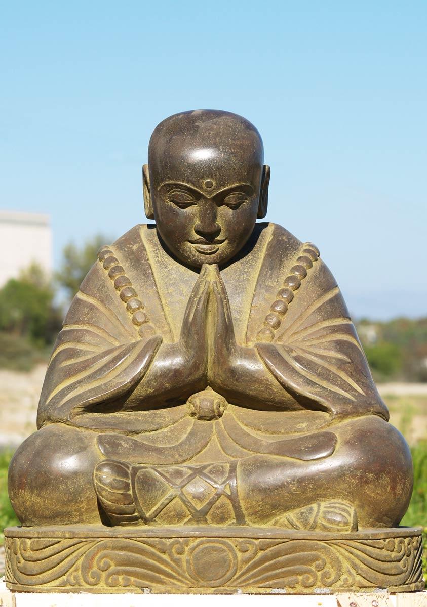 "SOLD Stone Praying Buddha Statue 24"" (#69ls22): Hindu Gods ..."