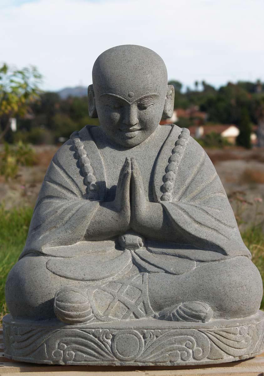 sold stone praying buddha statue 24quot 69ls56 hindu gods