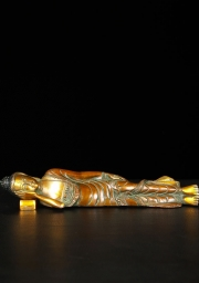 Brass Reclining Buddha on Pillow 10