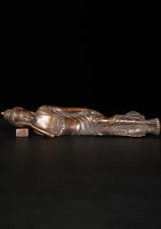 Brass Laying Buddha on Pillow 10