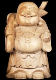 Fat Buddha Holding Sack of Gold 16