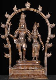 Brass Shiva  Parvati Sculpture 14