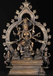 Bronze Durga on top of Shiva 15