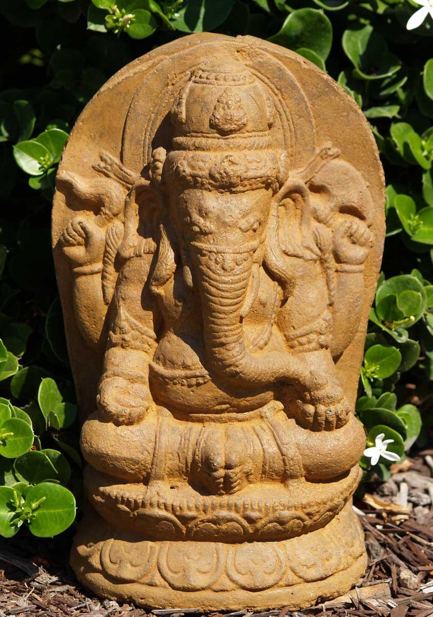 Sold stone ganesh garden sculpture quot vc a hindu