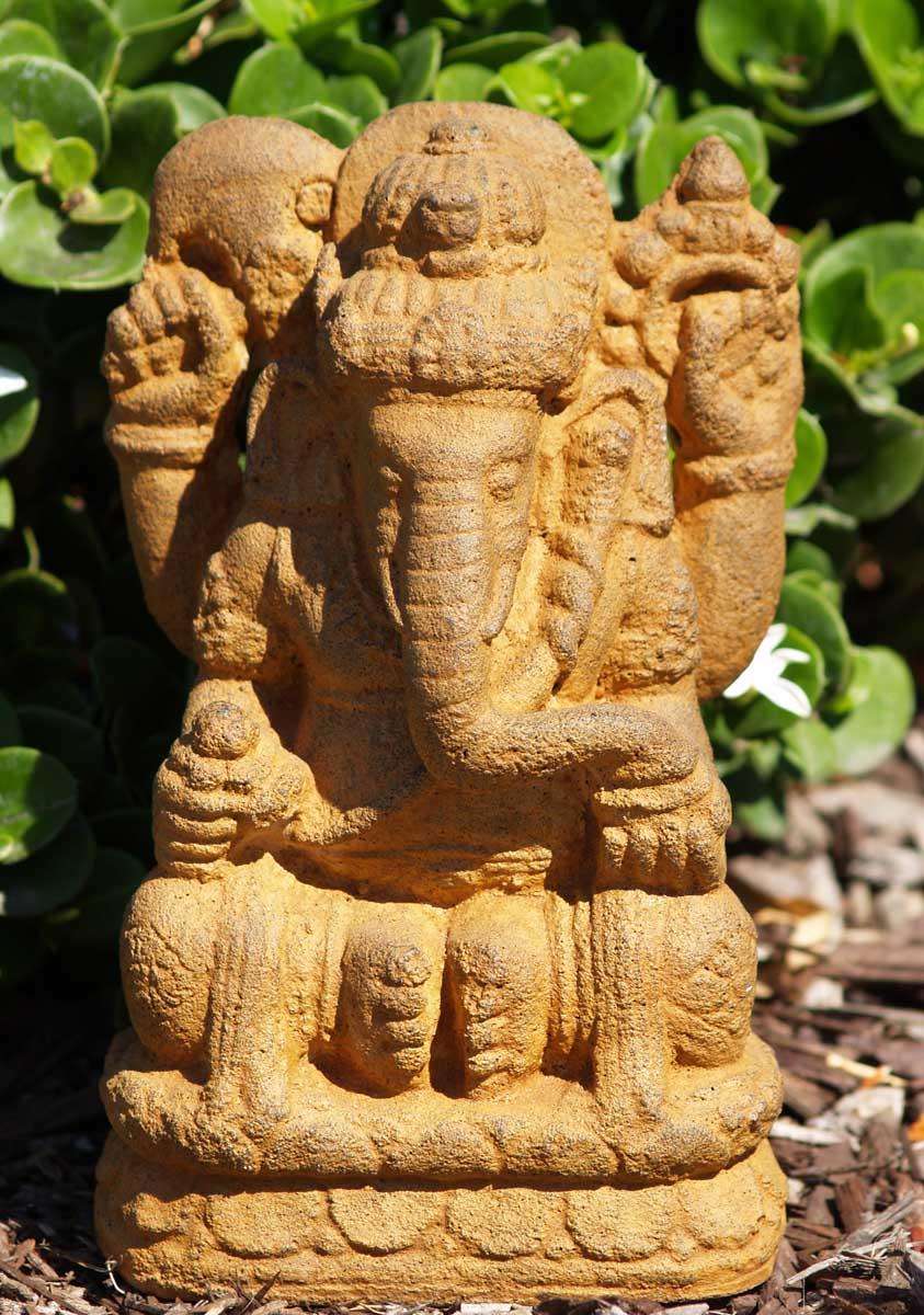 "SOLD Stone Small Ganesh Statue 8"" (#67vc8): Hindu Gods ..."