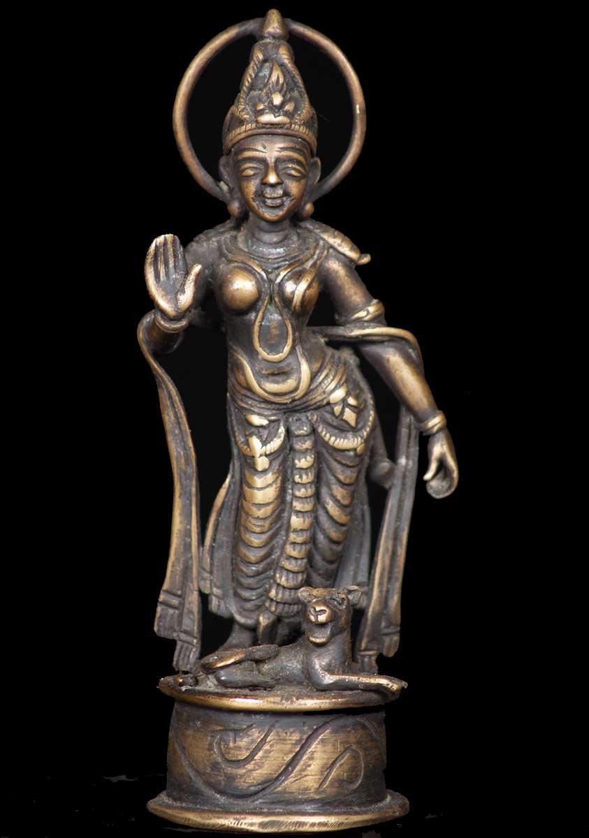 Sold Small Bronze Parvati Statue 6 54b43a Hindu Gods