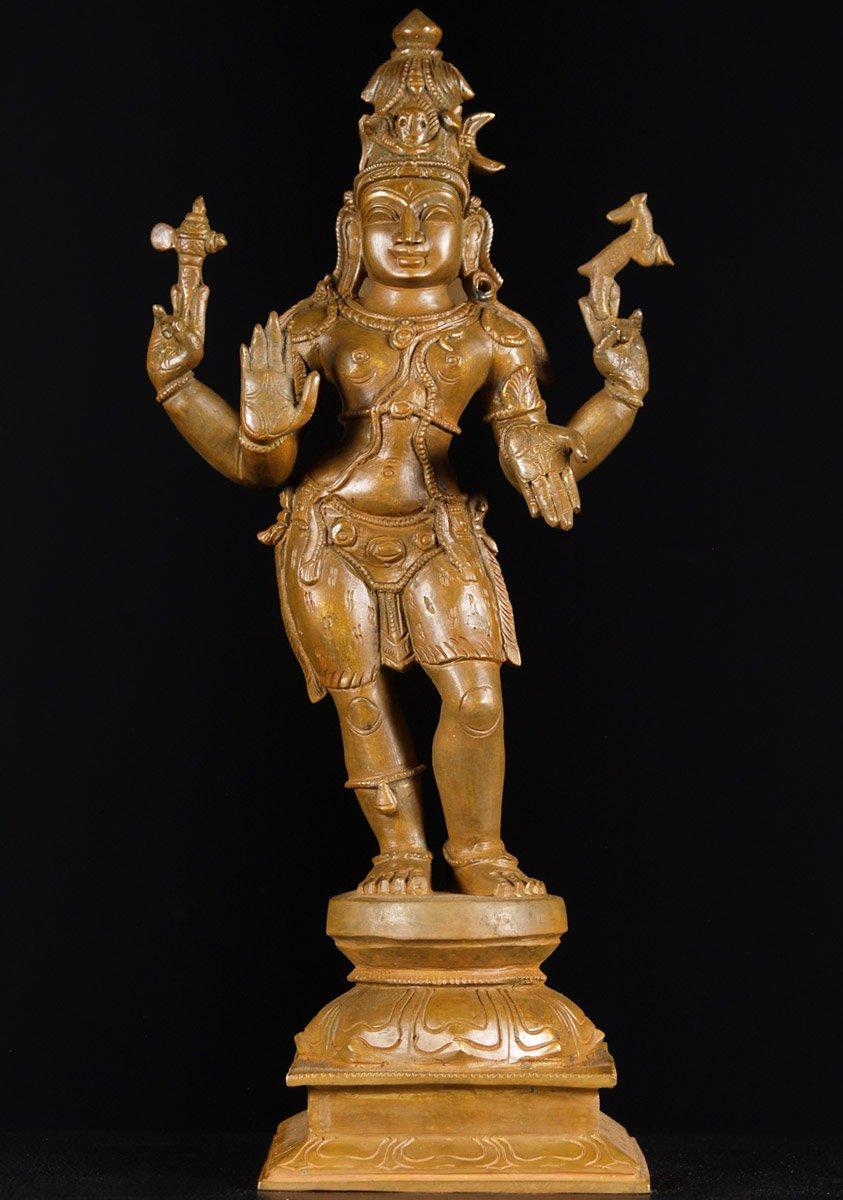sold bronze standing shiva statue 18quot 72b51 hindu gods