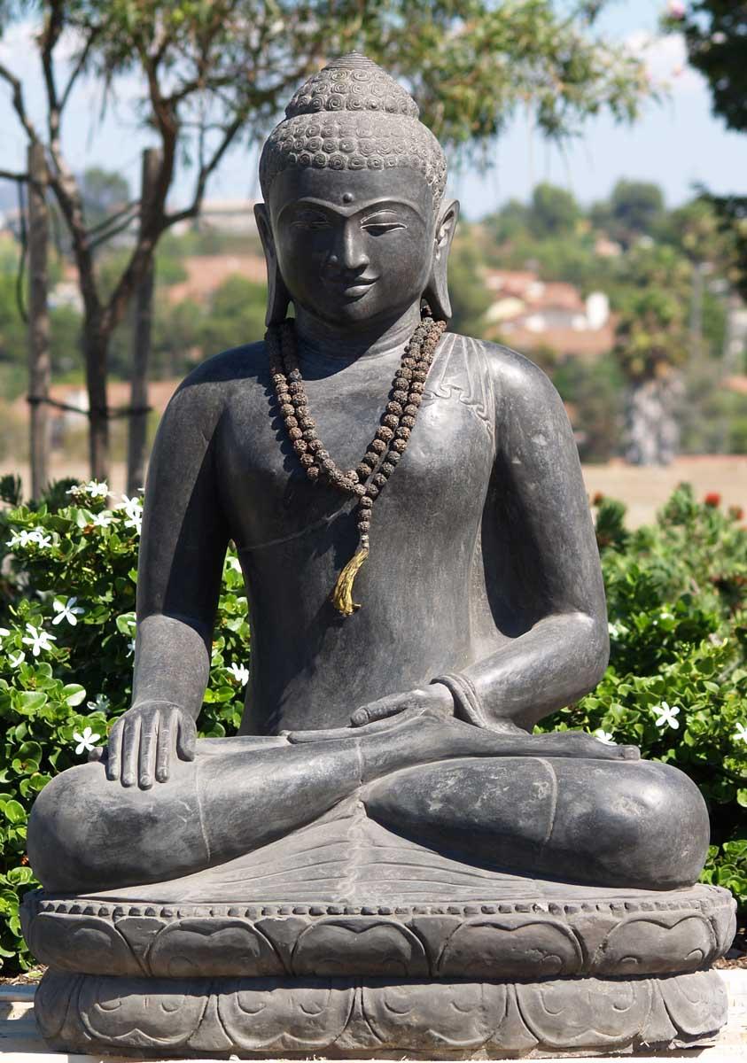 sold stone borobudur buddha statue 43 67ls2 hindu. Black Bedroom Furniture Sets. Home Design Ideas