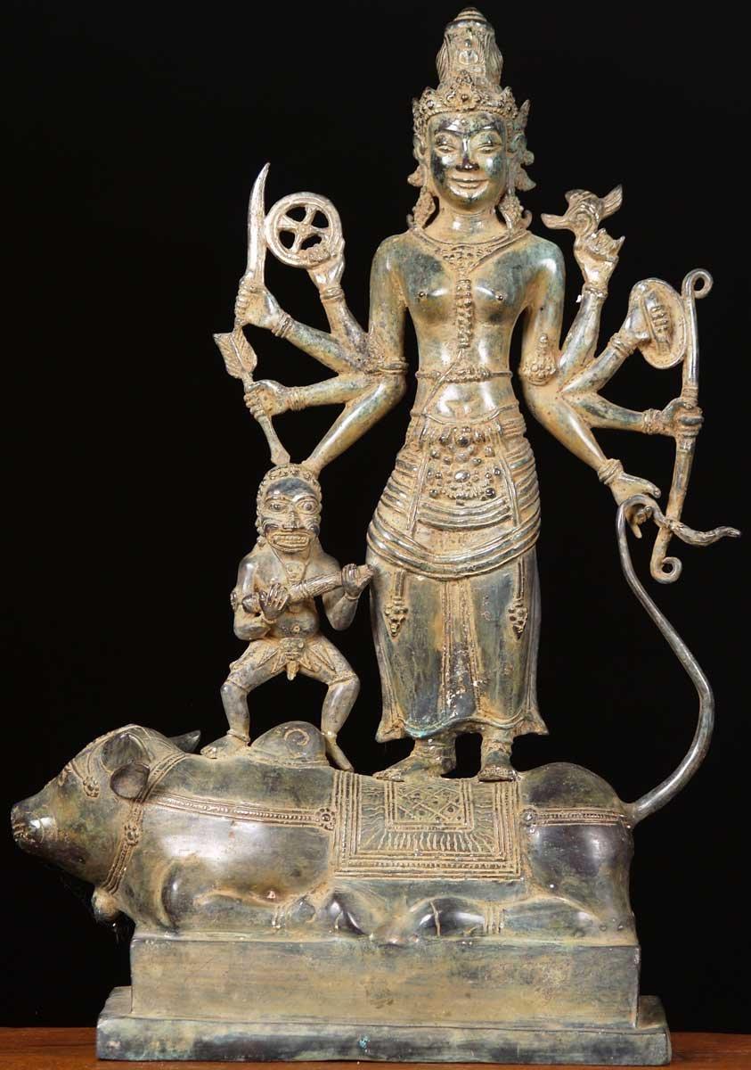 Sold Brass Dewi Durga Statue 22 Quot 67bb11a Hindu Gods
