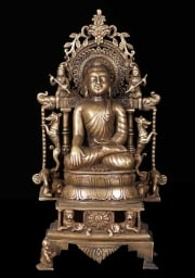 Bronze Buddha with Beautiful Arch 125
