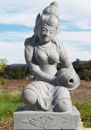 Stone Devi Water Fountain Statue 42