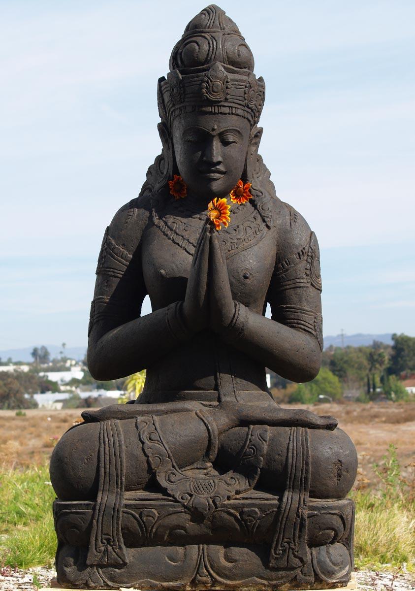 Sold stone devi tara namaste statue 60 69ls82 hindu gods sold stone devi tara namaste statue 60 m4hsunfo