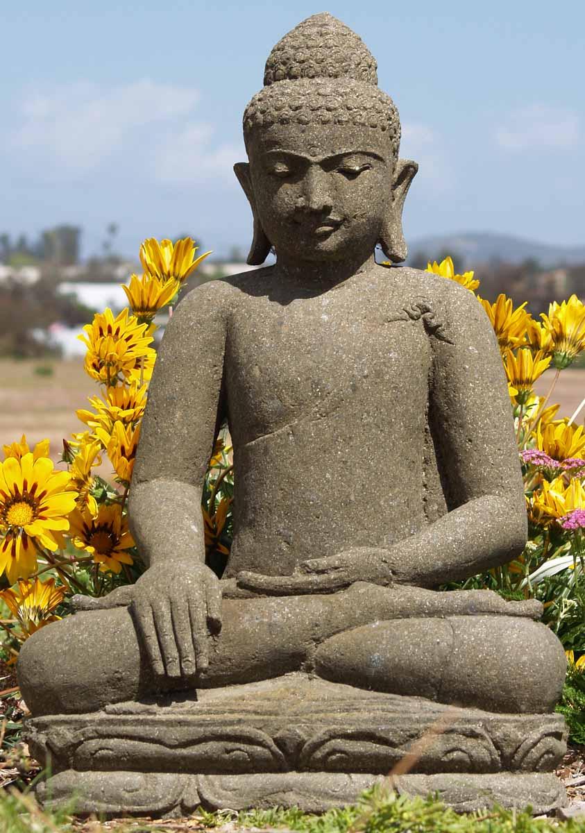 "Buddha Statues For The Garden: SOLD Garden Balinese Buddha Statue 26"" (#67ls25): Hindu"