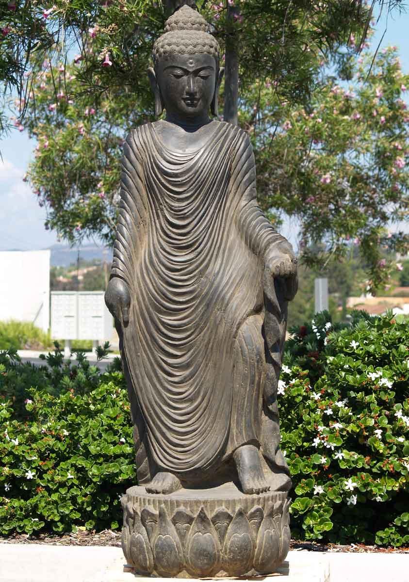 sold stone garden buddha statue 66 65ls88 hindu gods. Black Bedroom Furniture Sets. Home Design Ideas