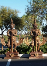 Pair of Yakshas Thai Temple Guards 79