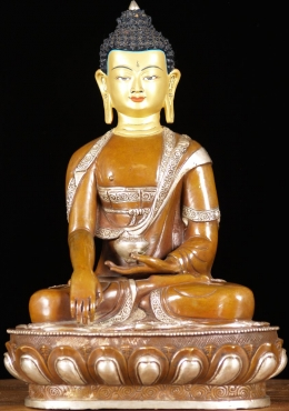 Copper Earth Touching Buddha 13