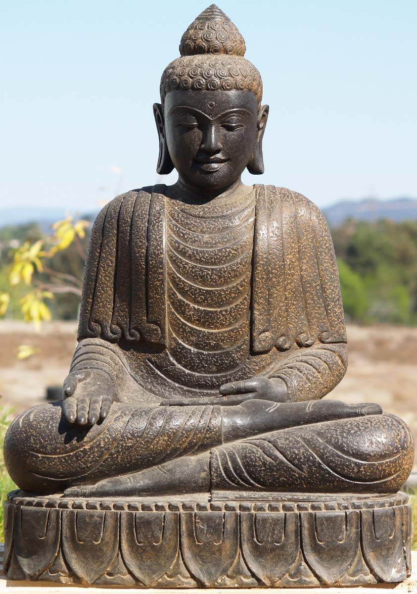 sold stone varada garden buddha 40 77ls39 hindu gods. Black Bedroom Furniture Sets. Home Design Ideas