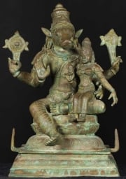 Bronze Varaha Statue with Lakshmi 15