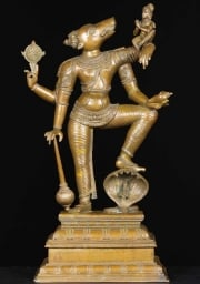 Bronze Varaha Statue with Lakshmi 24