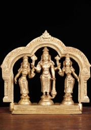 Bronze Vishnu with Bhudevi and Sridevi 65