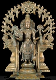 Bronze Vishnu Statue Beautiful Arch 19