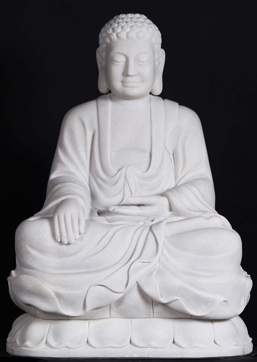 Sold Marble Bhumisparsha Buddha 36 Quot 45w4 Hindu Gods