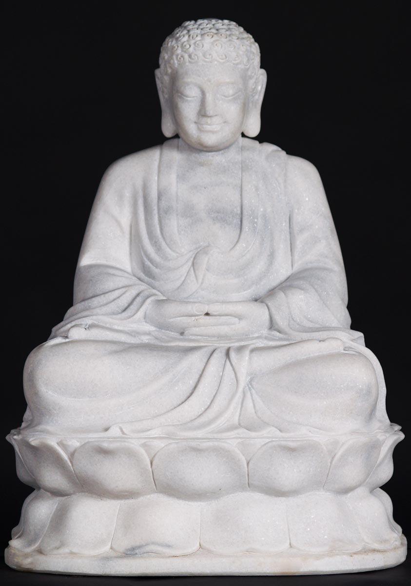Sold Marble Meditating Garden Buddha 24 Quot 45w6 Hindu