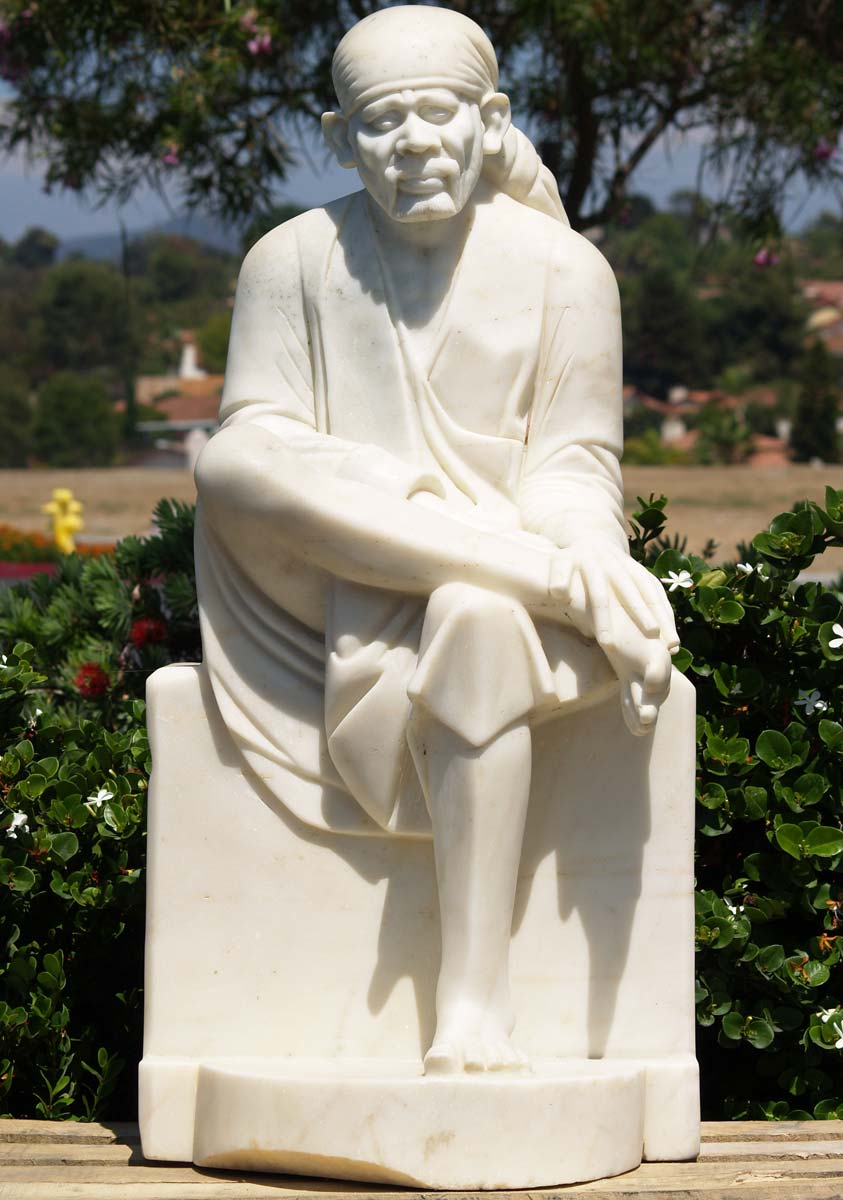 White Marble Statue : Sold white marble sai baba statue quot wm hindu