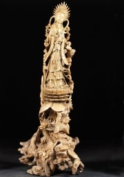 Natural Tree Root Kwan Yin Statue 56