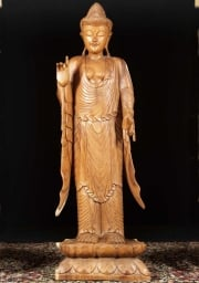 Wood Teaching Buddha Statue 62