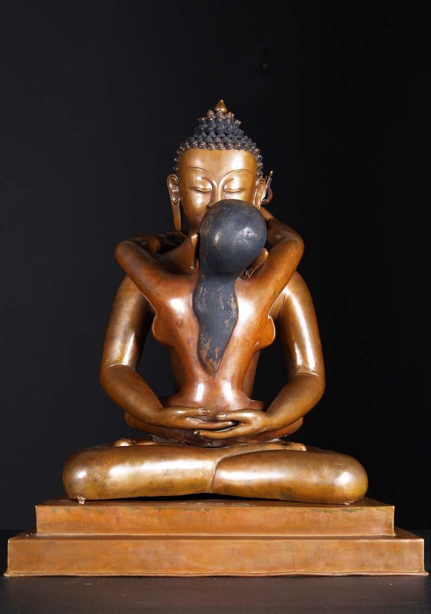 Sold Nepali Yab Yum Buddha Shakti Statue 23 Quot 1ns1