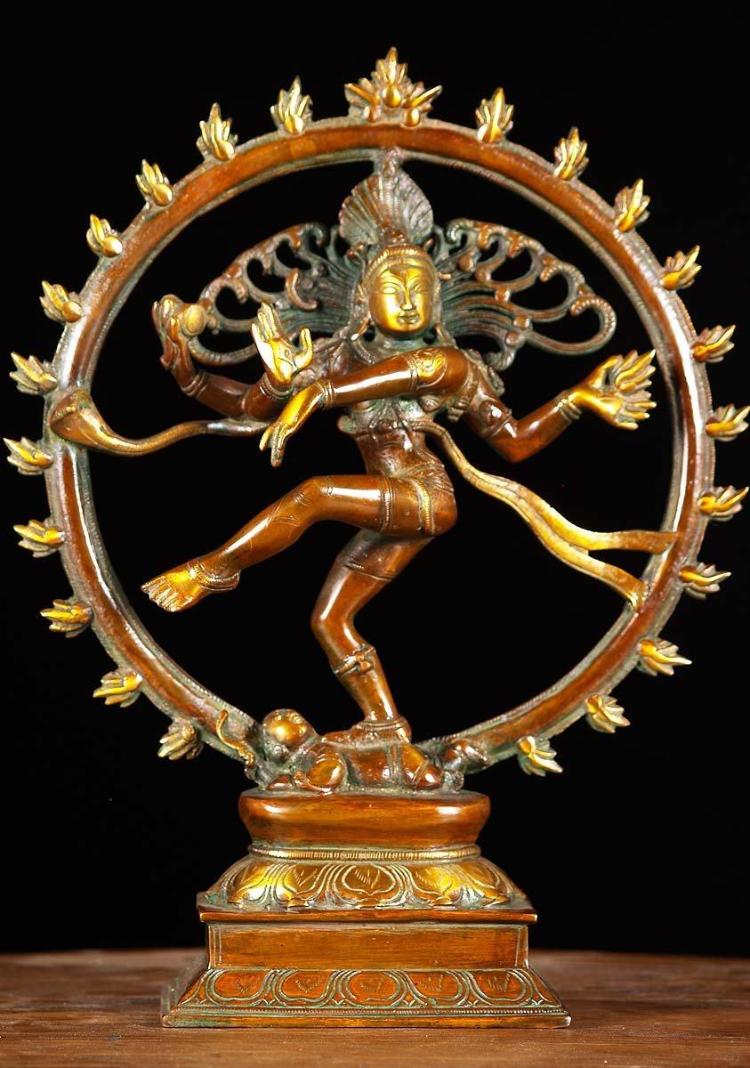 Sold Nataraja Shiva Statue 13 Quot 61bs36d Hindu Gods