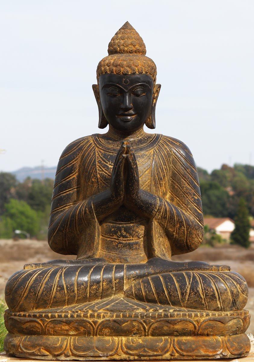 "SOLD Large Praying Buddha Statue 44"" (#77ls57): Hindu Gods ..."