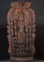 Large Wood Mahavishnu Statue 85