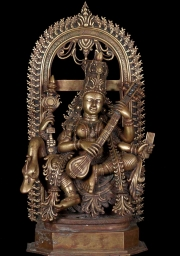 Bronze Saraswati Seated on a Swan 20