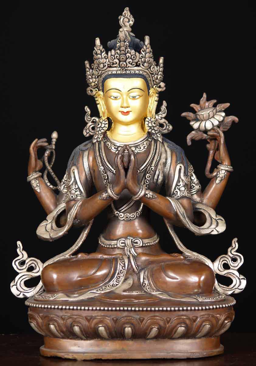 Sold Samantabhadra Bodhisattva Statue 13 Quot 61ns20 Hindu