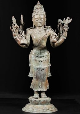 Bali Brass Standing Shiva With 8 Arms 46