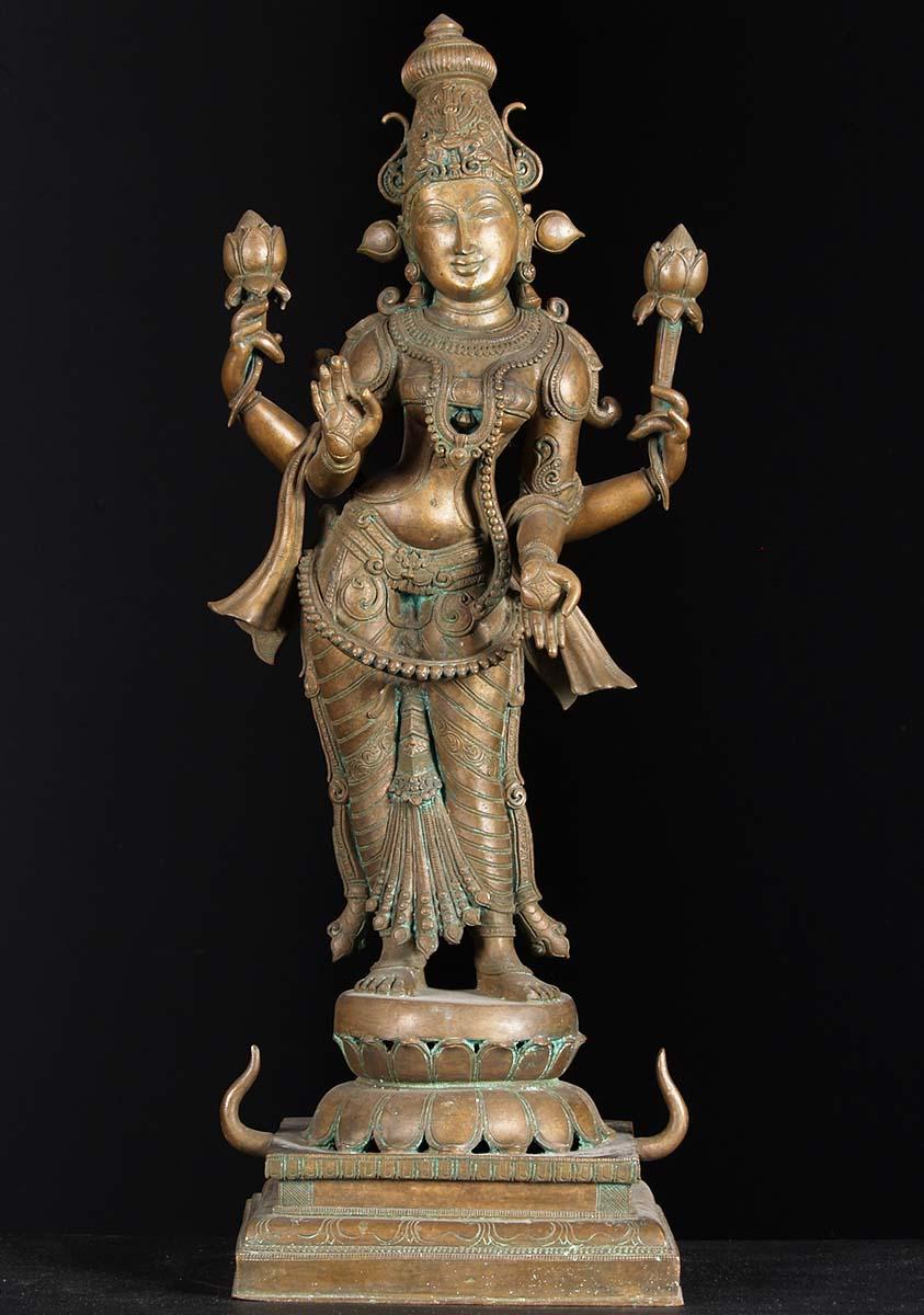 Sold Bronze Lakshmi Statue 26 5 Quot 74b71 Hindu Gods