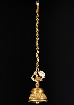 Brass Golden Peacock Bell 8