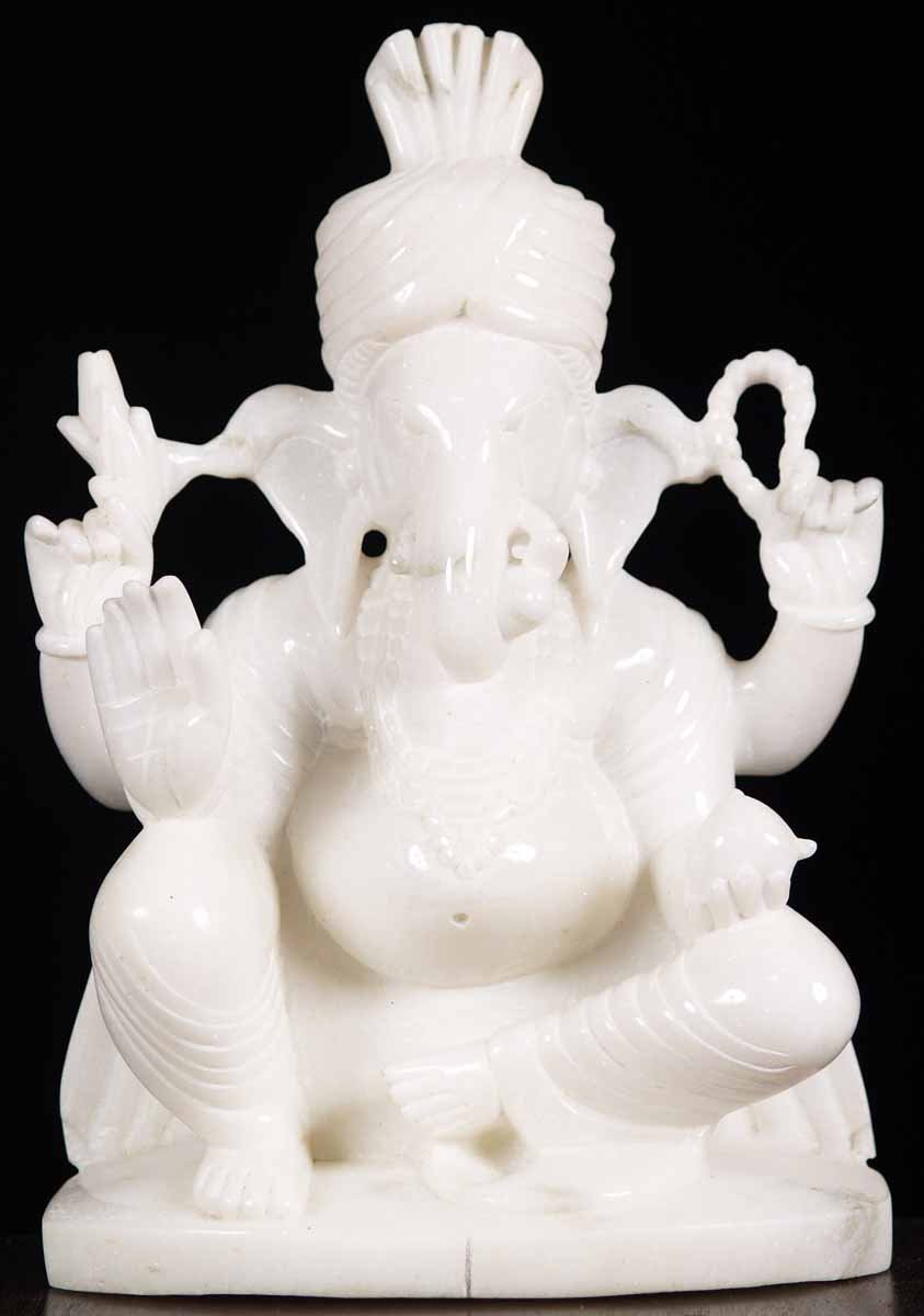 White Marble Statue : Sold white marble ganesh statue quot m hindu gods
