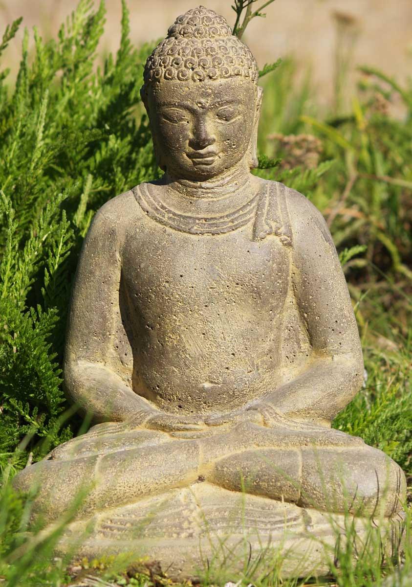 Sold stone meditating garden buddha quot vc b hindu