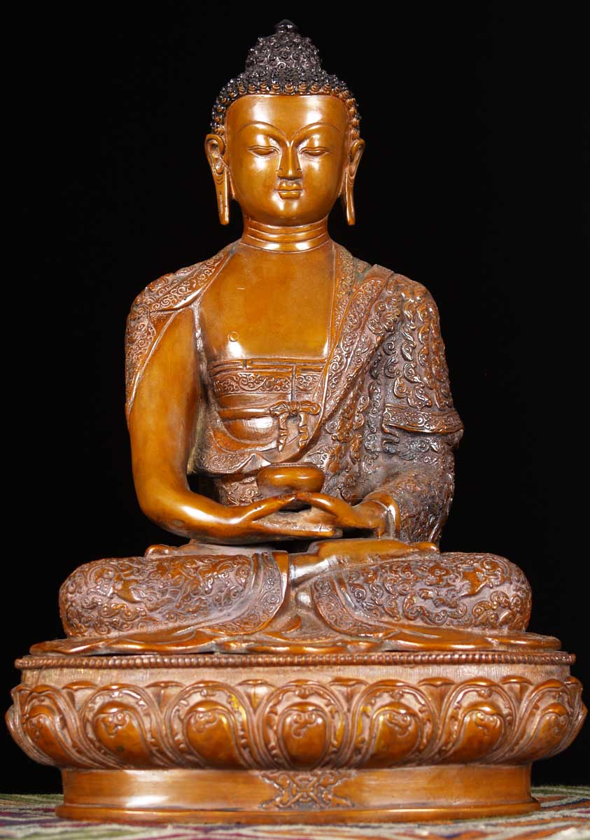 Sold Medicine Buddha With Alms Bowl 17 Quot 61bs21c Hindu