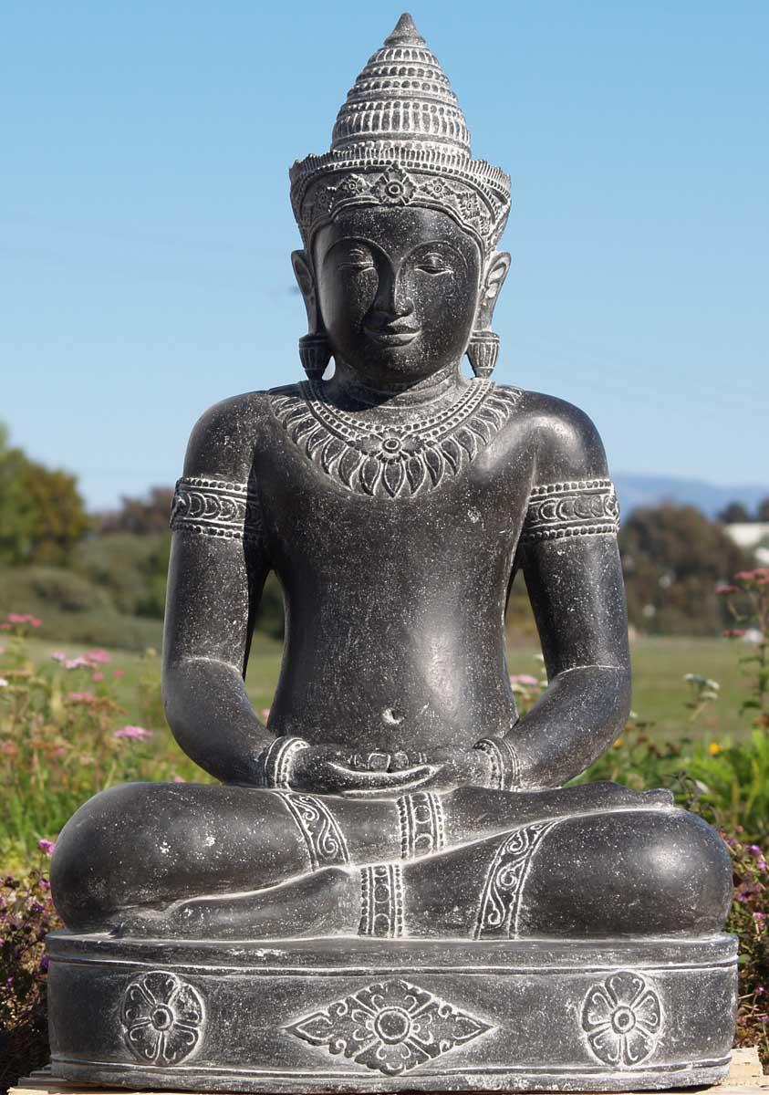 "What Is Freight Shipping >> SOLD Stunning Khmer Buddha Sculpture 42"" (#67ls102): Hindu ..."