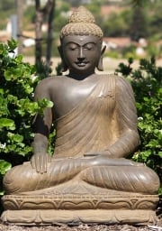 RESERVED Stone Earth Touching Buddha Statue 32