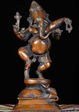 Brass Dancing Ganesha Sculpture 9