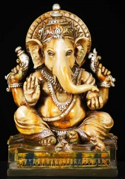 Fiber Seated Ganesh Statue 10