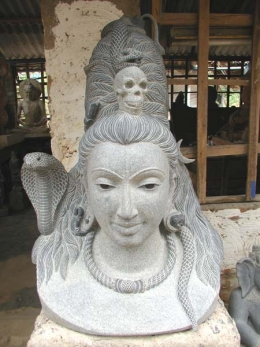 Custom Shiva Bust with Cobras 36