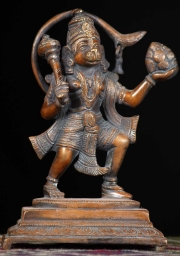 Brass Hanuman Carrying a Mountain 65